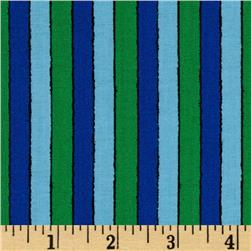 Welcome to Sesame Street Stripe Blue