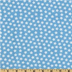 Camelot Flannel Stars Light Blue