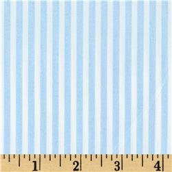Morocco Blues Stretch Cotton Shirting Baby/Blue/White