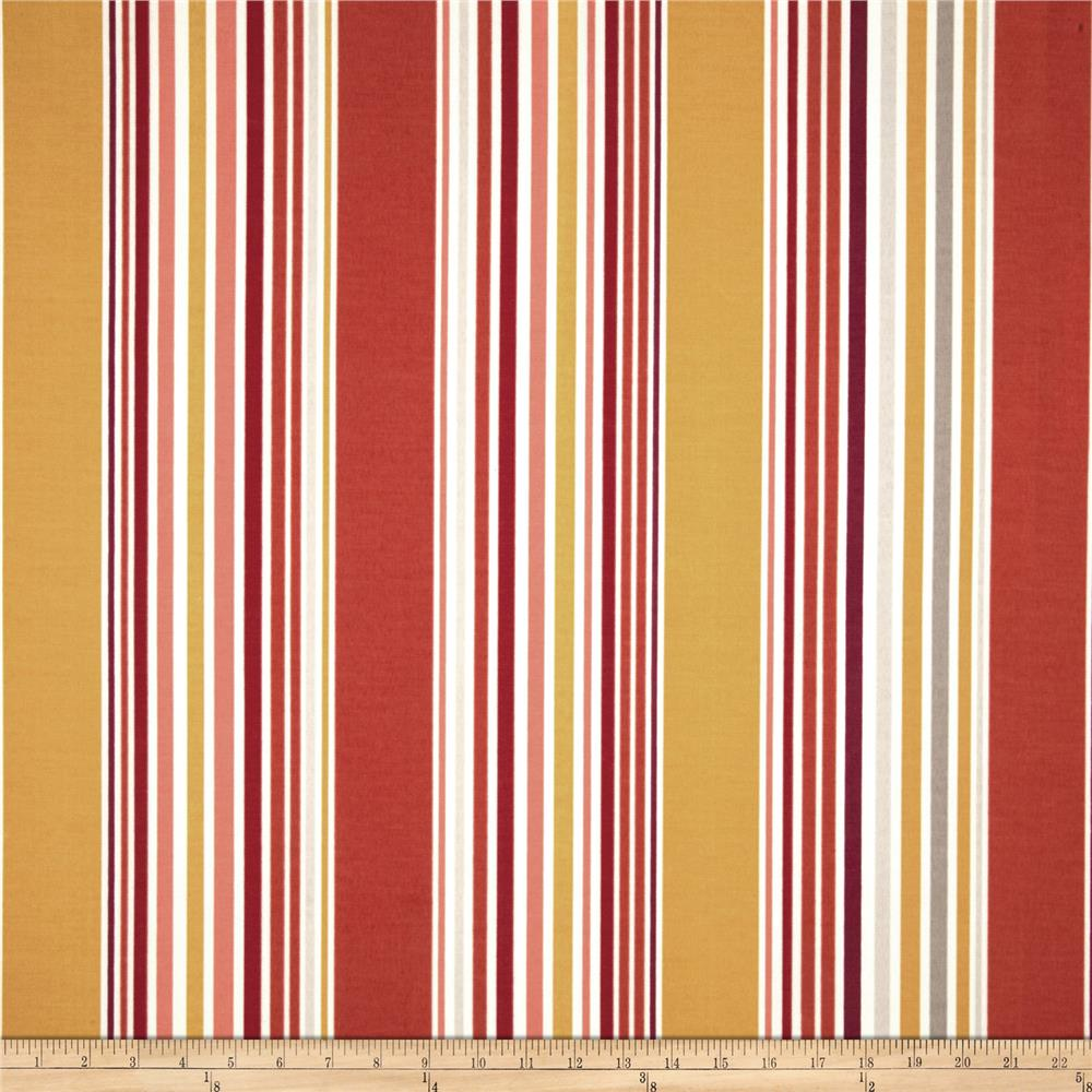 P Kaufmann Indoor/Outdoor Deck Stripe Tangerine