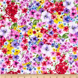 Timeless Treasures Ooh La La Packed Floral Multi