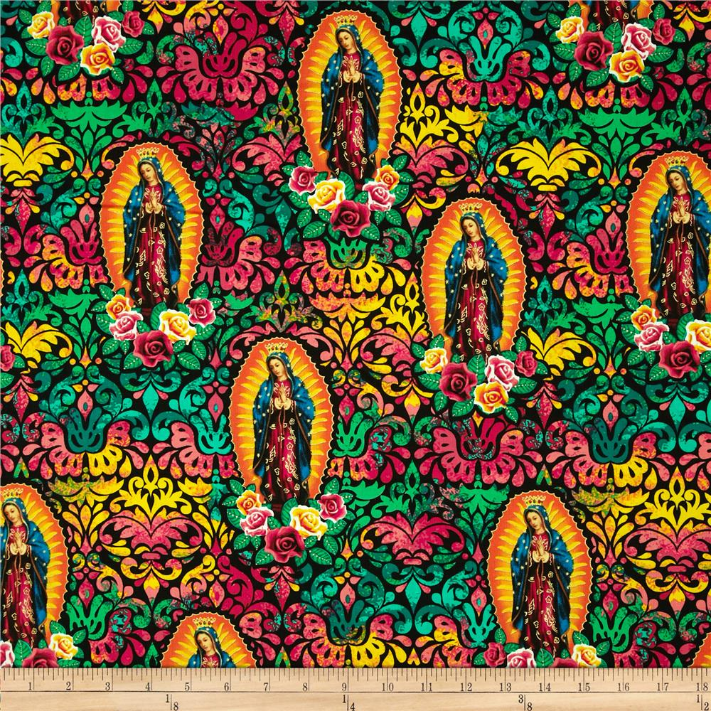 Kanvas Lady of Guadalupe Metallic Multi