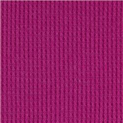 Cotton Poly Thermal Knit Magenta
