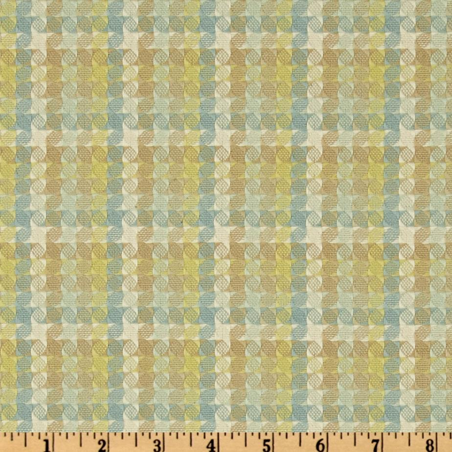 HGTV Home Checkered Past Woven Jacquard Glacier