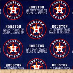 Houston Astros Cotton Broadcloth Navy