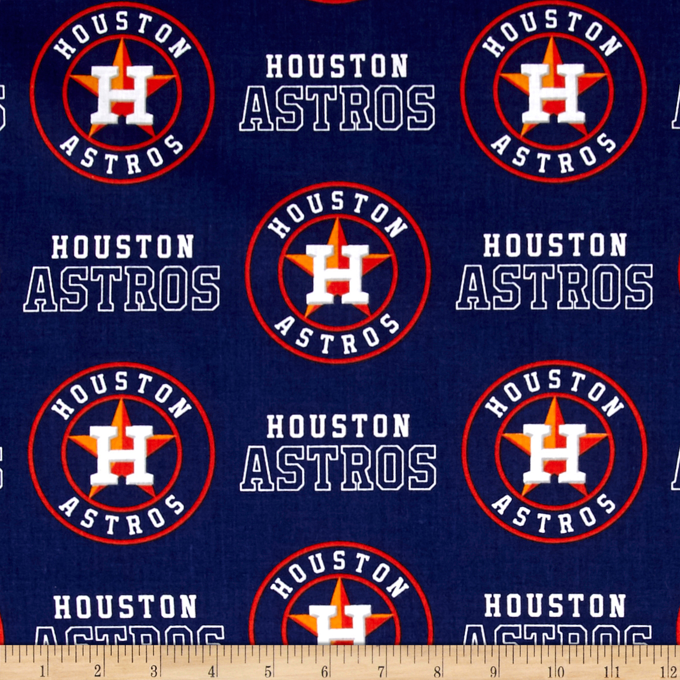 Houston Astros Cotton Broadcloth Navy Fabric by Fabric Traditions in USA