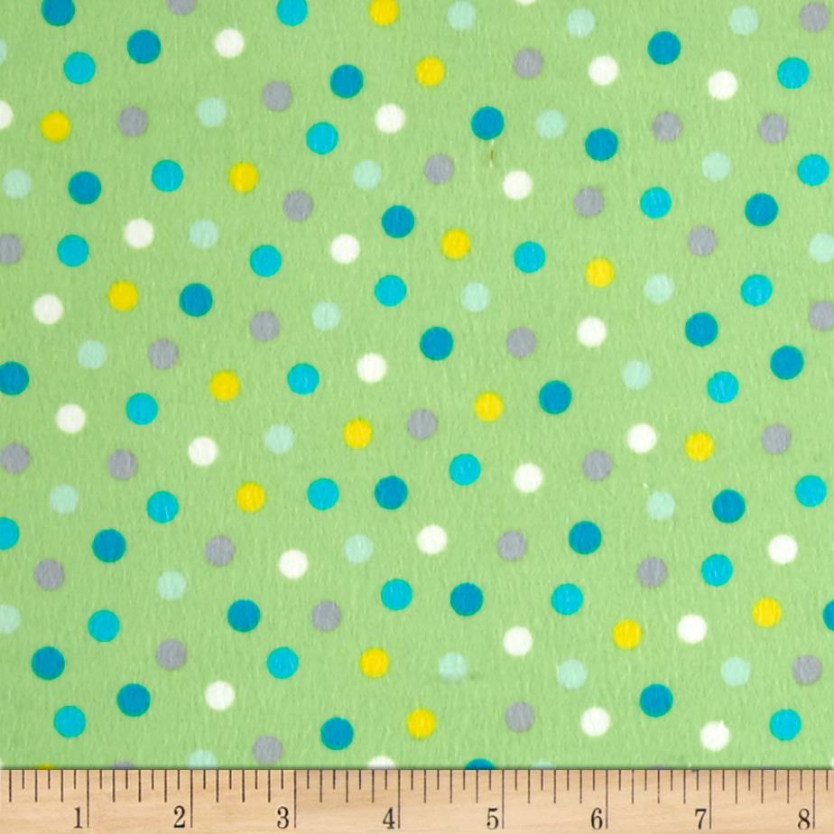 Animal ABC's Flannel Dots Green