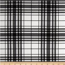 Harlequin Stretch Cotton Sateen Plaid White/Black