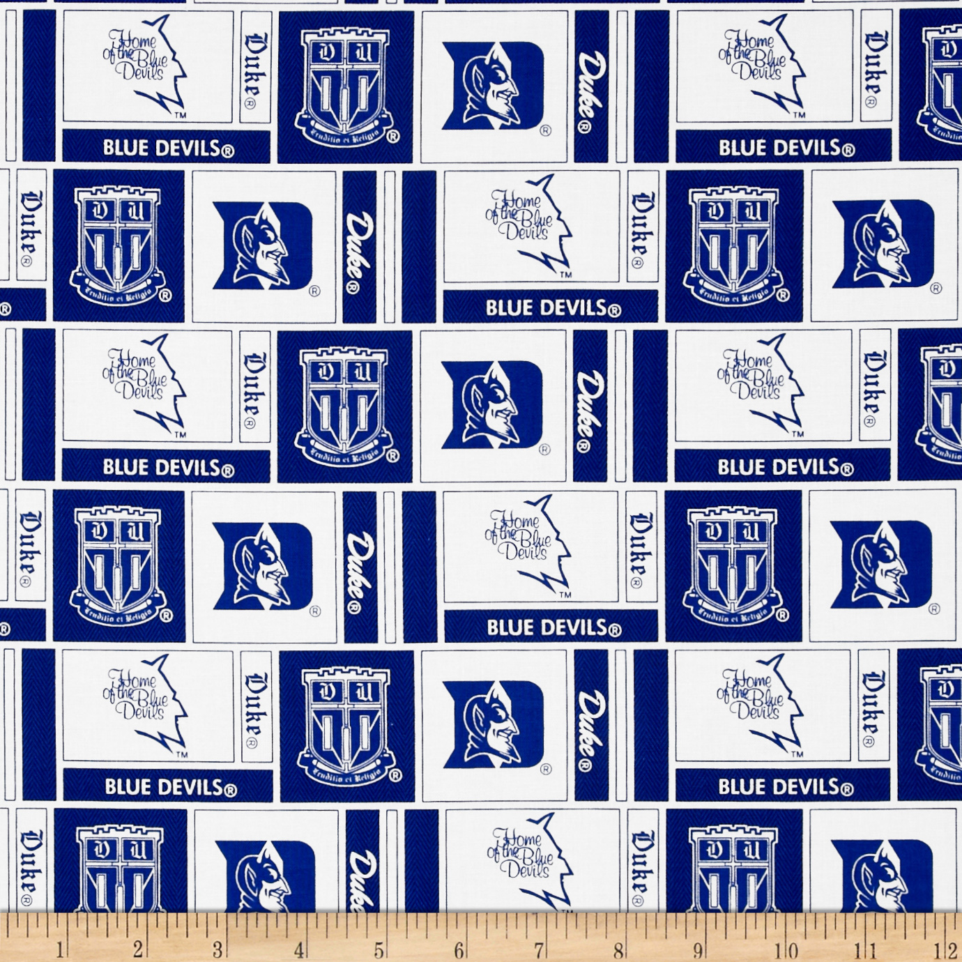 Collegiate Cotton Broadcloth Duke University Fabric