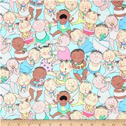 Kanvas Cry Baby Baby Talk Aqua Fabric