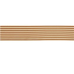 "May Arts 1 1/2""  Grosgrain Stripes Ribbon Spool Brown/Ivory"
