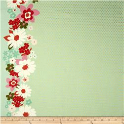 Cotton & Steel Mustang Sparkle Flower Metallic Green