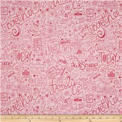 Riley Blake Snapshots Family Pink Fabric