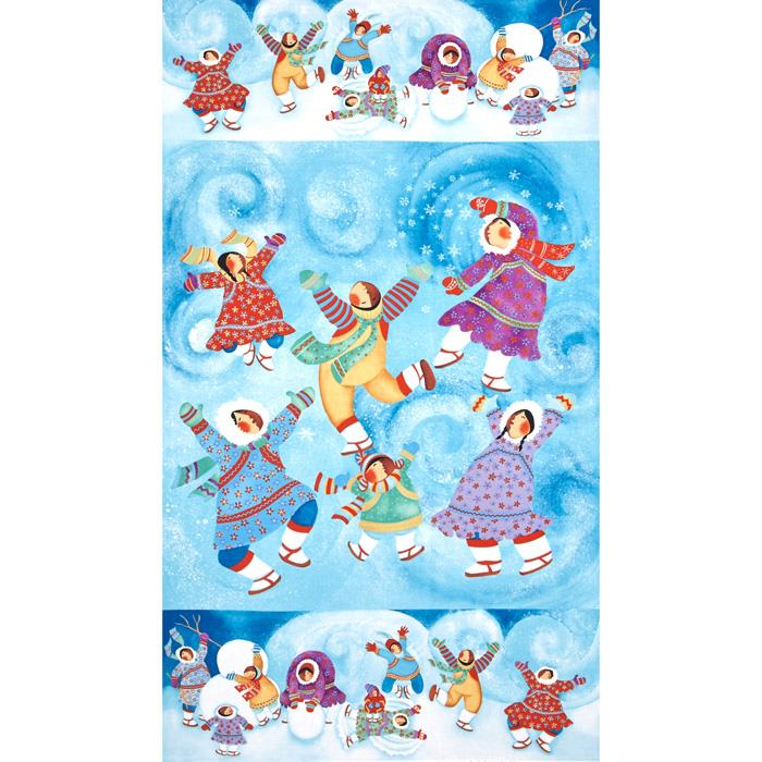 Eskimo Snow Panel Blue Fabric By The Yard