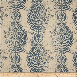 Premier Prints Manchester Blend Laken Indigo Fabric
