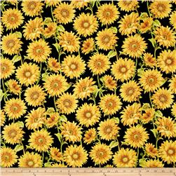 Follow the Sun Large Packed Sunflowers Black