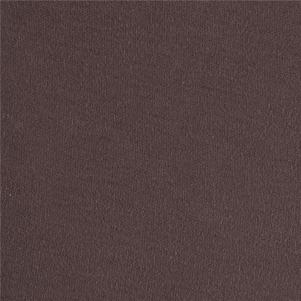 Telio organic cotton jersey knit taupe discount designer for Fabric cloth material