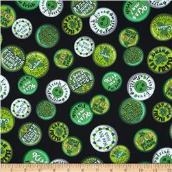 A Wee Bit Irish St. Pat's Buttons Black