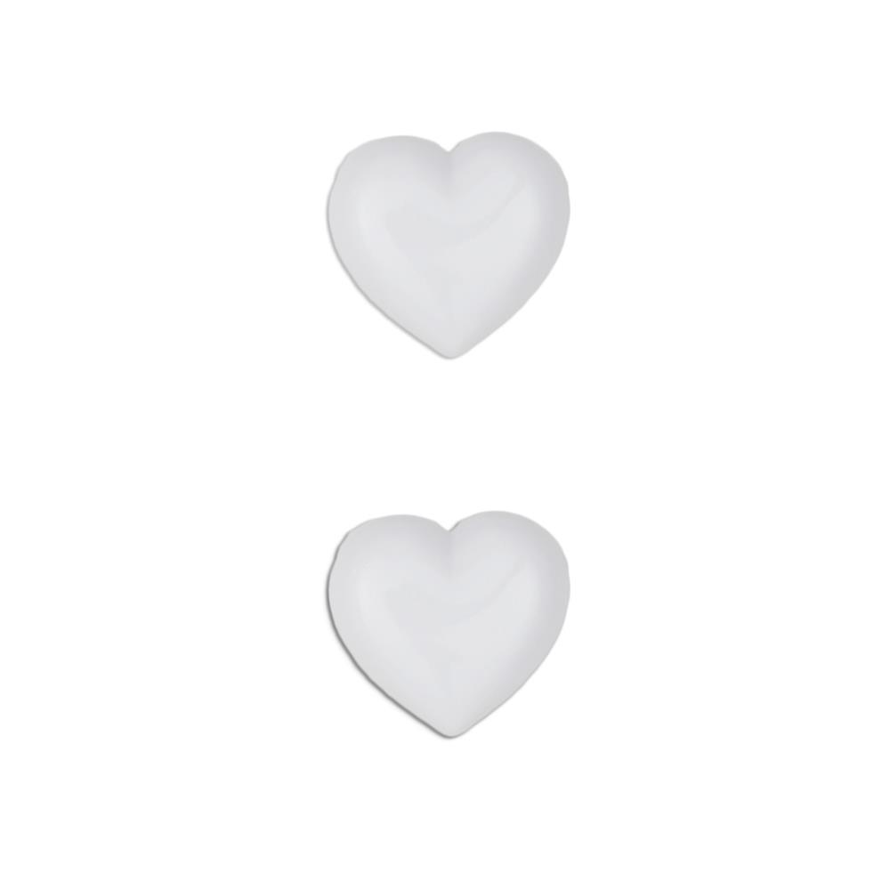 Dill Novelty Button 3/4'' Heart White