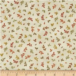 Fall's Canvas Mini Leaves Cream