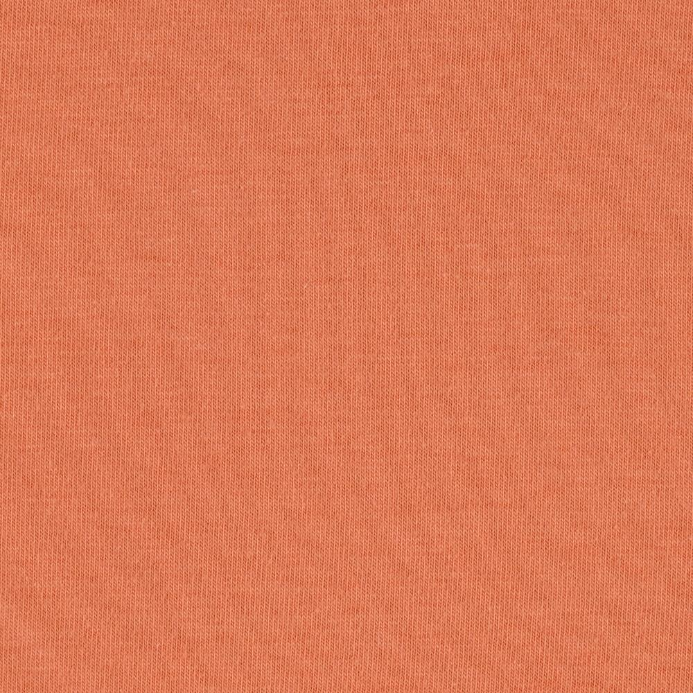 Stretch Cotton Jersey Knit Light Orange