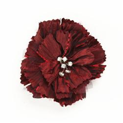 Florentina Jeweled Brooch 4'' x 4'' Wine