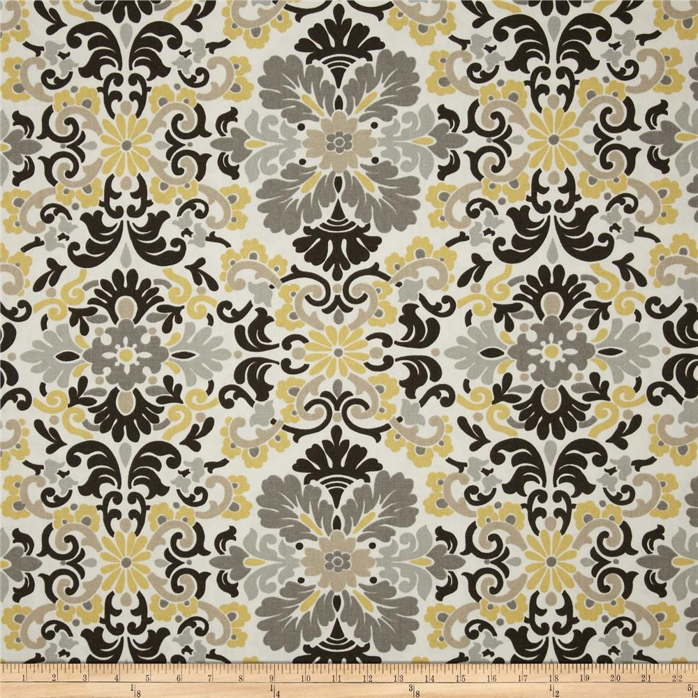 Waverly Folk Damask Lemondrop