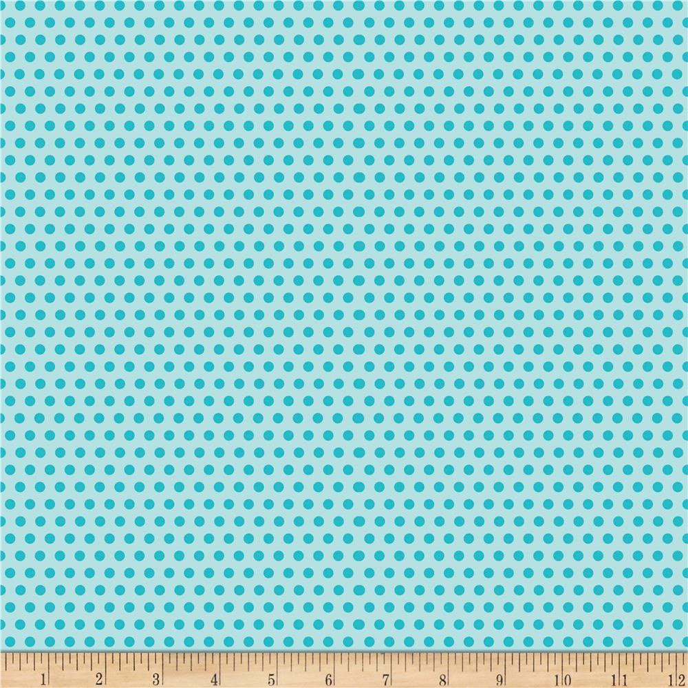 Riley Blake Girl Crazy Dots Blue