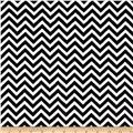 Minky Cuddle Mini Chevron Black/Snow