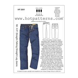Hot Patterns Mr. H.P. Straight-Talking Straight Leg Jeans