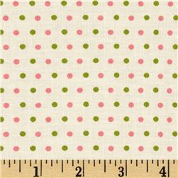 Pirouette Dots Pink/Green Fabric