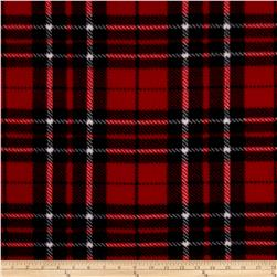 WinterFleece Classic Plaid Red/Black Fabric