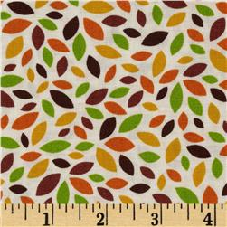 Timeless Treasures Fall Leaves Cream/Multi