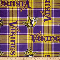 NFL Fleece Minnesota Vikings Plaid Purple/Yellow