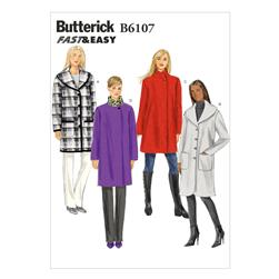 Butterick Misses' Coat Pattern B6107 Size 0Y0