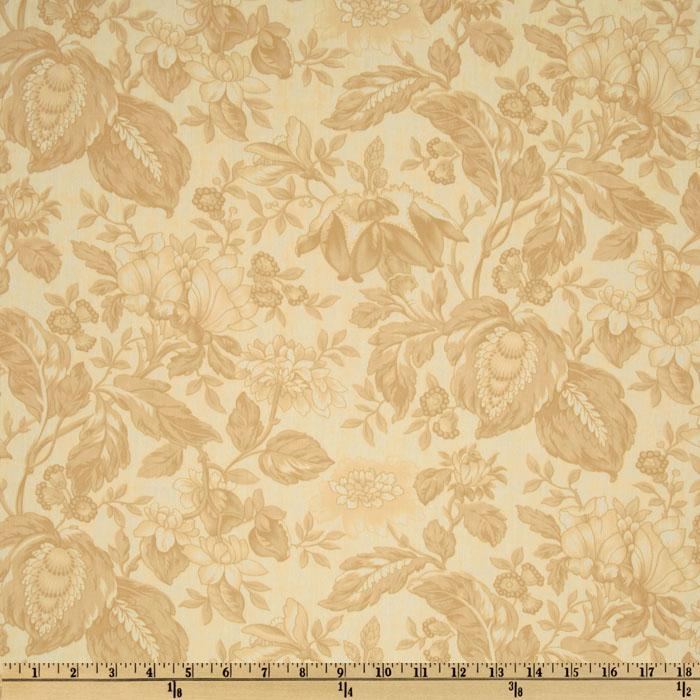 Moda Papillon 108'' Quilt Backing Floral Ivory