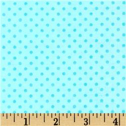 Flannel Mini Dots Tonal Aqua Blue