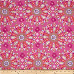 Dena Designs Sunshine Linen Blend Circle Medallion Pink
