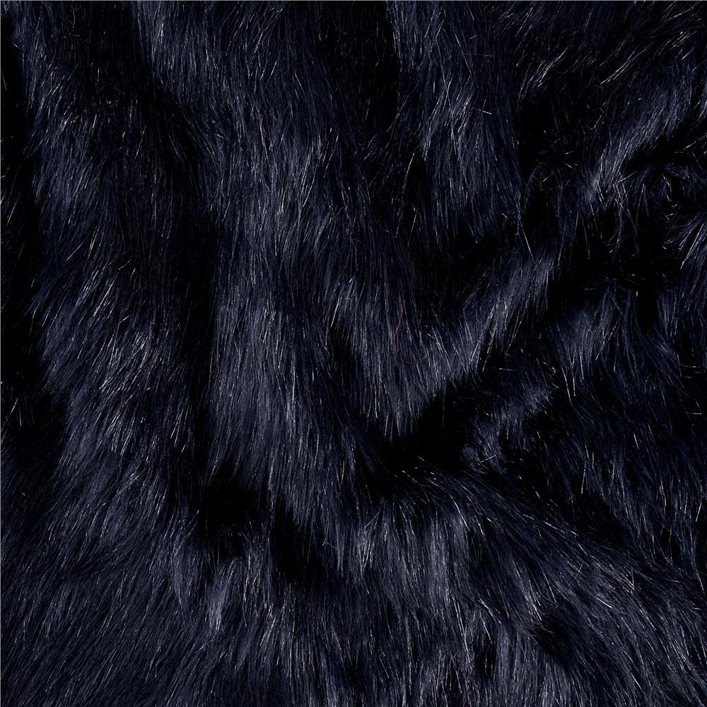 Luxury Faux Fur Fox Indigo