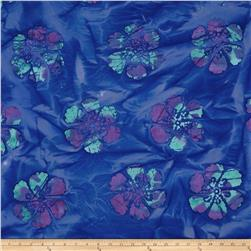 Indian Batik Hibiscus Blue/Multi