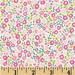 Liberty of London Tana Lawn Fairford Pink/Lime Fabric