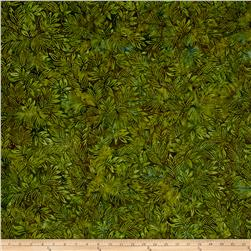 Benartex Balis Batik Color Pop Lilly Leaves Pine