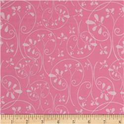 Whoo's Cute Flannel Swirl Tree Hot Pink