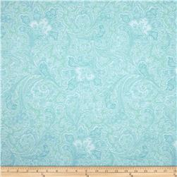 108'' Wide Quilt Back Rosemont Malabar Sea Breeze