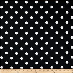 Premier Prints Polka Dot Black/White Fabric