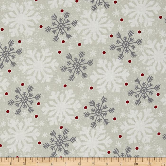 Debbie Mumm All Bundled Up Large Snowflakes Ivory
