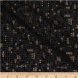 Moda Modern Backgrounds Luster Metallic Tiles Black