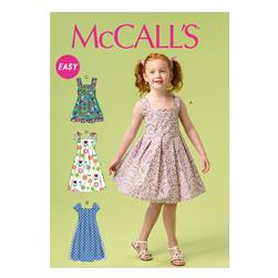 McCall's Children's/Girls' Dresses and Sash Pattern M6878 Size CDD