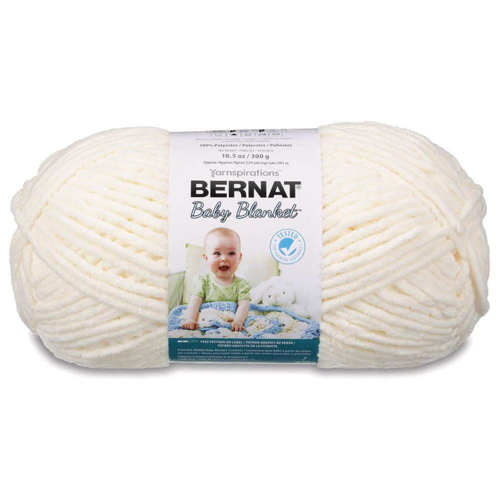 Bernat Baby Blanket Big Ball Yarn (04008) Vanilla