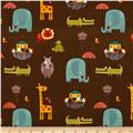 Riley Blake  Giraffe Crossing 2 Main Brown